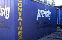 Nutzen Sie Ihren Baucontainer für Werbung