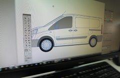 Der Fahrzeugtyp wird im entsprechendem Layoutprogramm bearbeitet