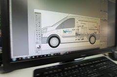 Die Idee wird direkt auf dem Fahrzeugtyp umgesetzt