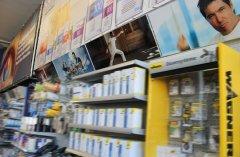 Ladendekorationen mit angebrachten Digitaldrucke und Spannrahmen