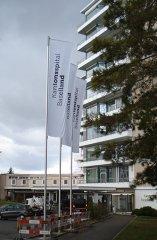 Fahnen im Kantonsspital Baselland