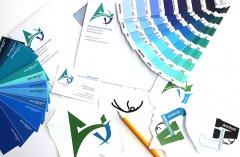 Wir entwerfen Ihnen das Logo für Visitenkarten, Briefpapier und Couverts