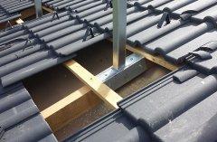 Montage auf dem Dach